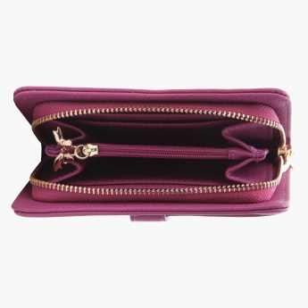 Missy Striped Clutch