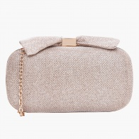 Celeste Bow-embellished Clutch with Sling Belt
