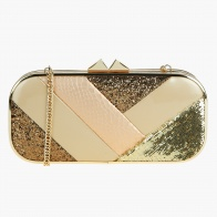 Celeste Sequinned Kiss Lock Clutch