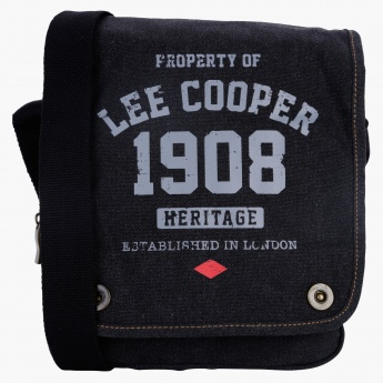 Lee Cooper Printed Messenger Bag