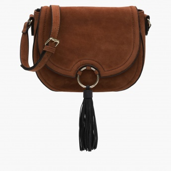 Paprika Crossbody Bag with Tassel