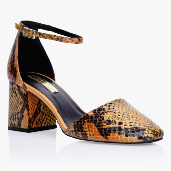 Paprika Textured Heel Shoes