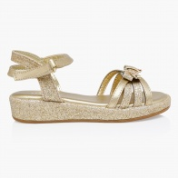 Little Missy Bow-accented Sandals