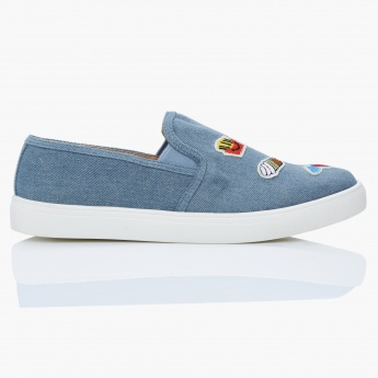 Missy Slip-On Shoes with Patchwork Detail