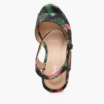 Missy Tropical Print High Heel Sandals