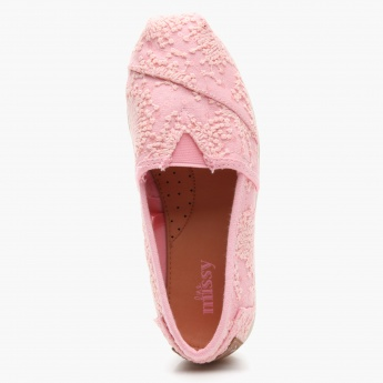 Little Missy Embroidered Espadrille Shoes