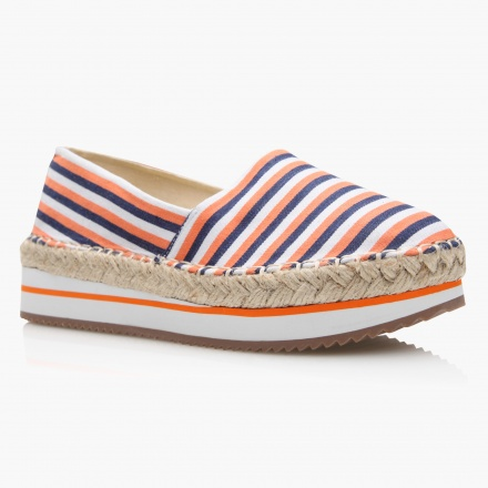 Missy Striped Slip-On Espadrilles