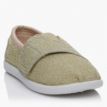 Juniors Glitter Shoes with Hook and Loop Closure