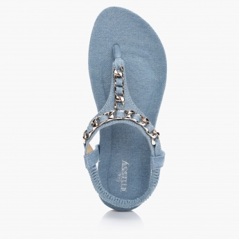 Little Missy Thong Sandal with Elasticised Back Closure