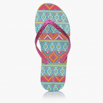 Little Missy Printed Thong Slippers