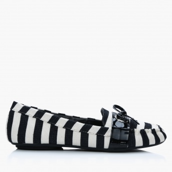 Jane Shilton Striped Moccasins