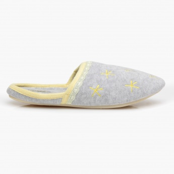 Missy Embroidered Bedroom Slippers