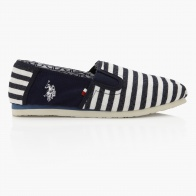 US POLO Striped Slip-on Shoes
